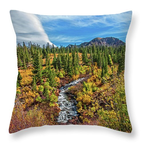 Mammoth Lakes Throw Pillow featuring the photograph Mammoth Lakes Autumn Falls by Lynn Bauer
