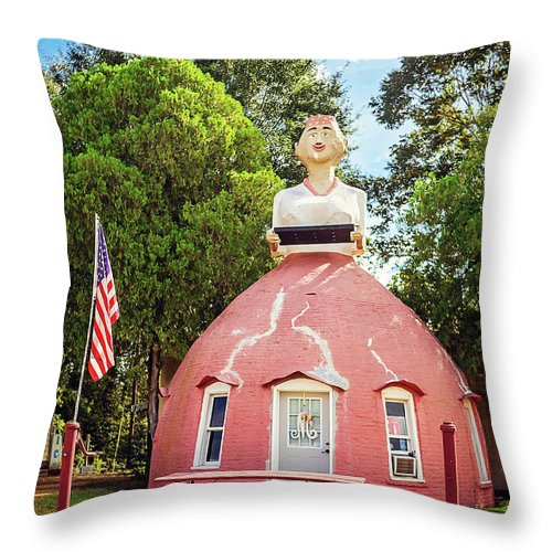 Natchez Throw Pillow featuring the photograph Mammy's Cupboard by Joan McCool