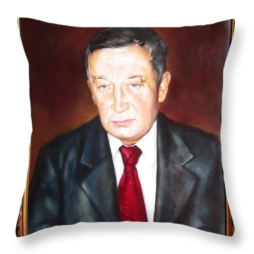 Art Throw Pillow featuring the painting Man 1 by Sergey Ignatenko
