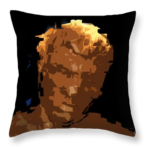 Man.male Throw Pillow featuring the painting Man by David Lee Thompson