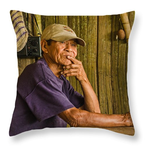 Peru Throw Pillow featuring the photograph Man Of The House by Allen Sheffield