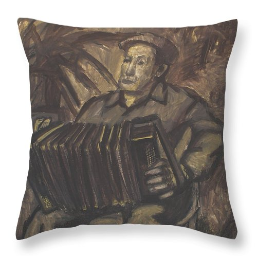People Throw Pillow featuring the painting Man by Robert Nizamov