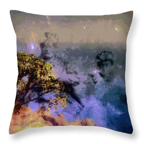 Rainbow Colors Digital Throw Pillow featuring the photograph Manahuna by Kenneth Grzesik