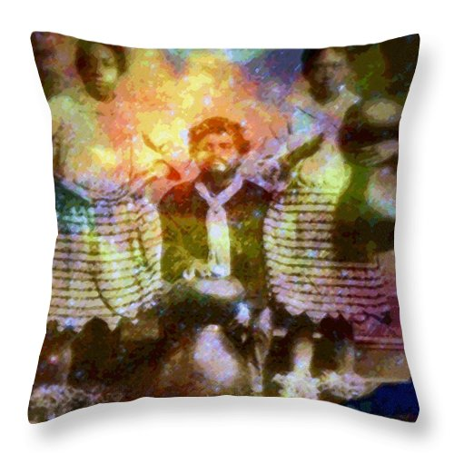 Rainbow Colors Digital Throw Pillow featuring the photograph Manawa Poe Kaahele by Kenneth Grzesik