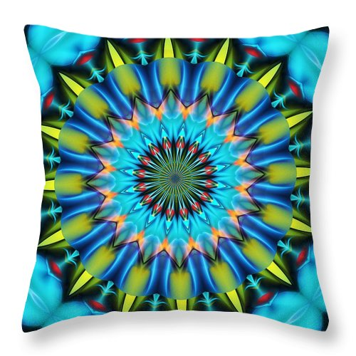 Mandala Throw Pillow featuring the digital art Mandala 111511 A by David Lane