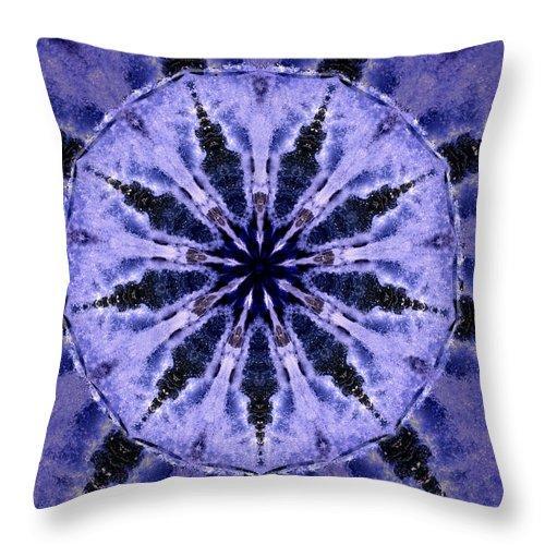 Mandala Throw Pillow featuring the digital art Mandala Ocean Wave by Nancy Griswold