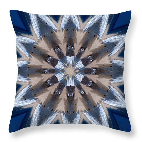 Mandala Throw Pillow featuring the photograph Mandala Sea Star by Nancy Griswold