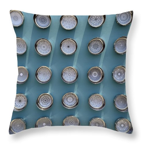 Wall Sculpture Throw Pillow featuring the mixed media Mandala Series No 3 by Sumit Mehndiratta