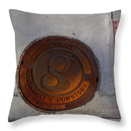 Manhole Throw Pillow featuring the photograph Manhole I by Flavia Westerwelle