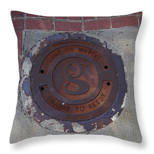 Manhole Throw Pillow featuring the photograph Manhole II by Flavia Westerwelle