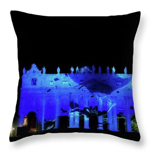 Bruno Cerboni Throw Pillow featuring the painting Manta On St. Peter by Bruno Cerboni