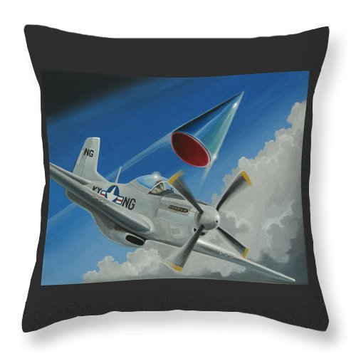 Ufo Throw Pillow featuring the painting Mantell Incident by Stuart Swartz