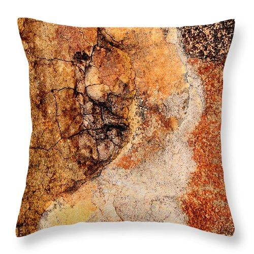 Abstract Throw Pillow featuring the photograph Many Faces by Kathie Nichols