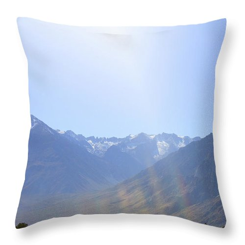California Throw Pillow featuring the photograph Manzanar 2 by Tommy Anderson