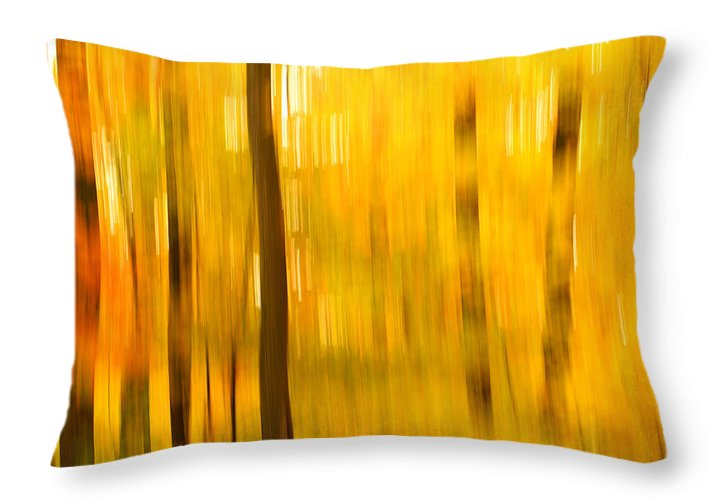 Abstract Photo Throw Pillow featuring the photograph Maple Magic by Bill Morgenstern