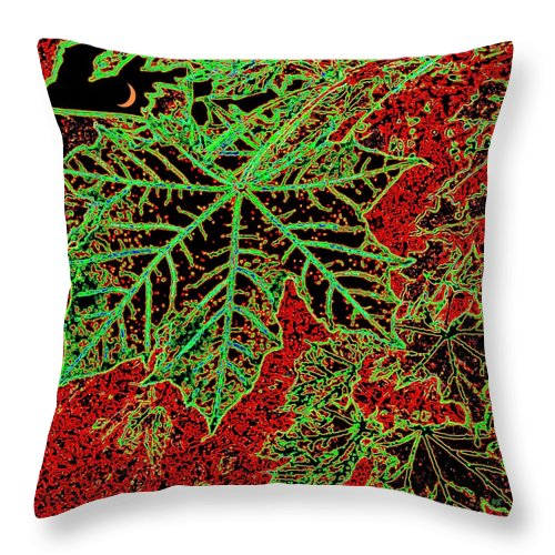Cheerful Throw Pillow featuring the digital art Maple Mania 7 by Will Borden