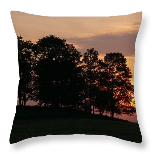 Sunset Throw Pillow featuring the photograph Maple Sunset by Natalie LaRocque