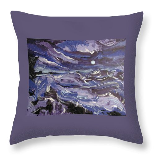 Sea Throw Pillow featuring the painting Mar Bravo by Rollin Kocsis