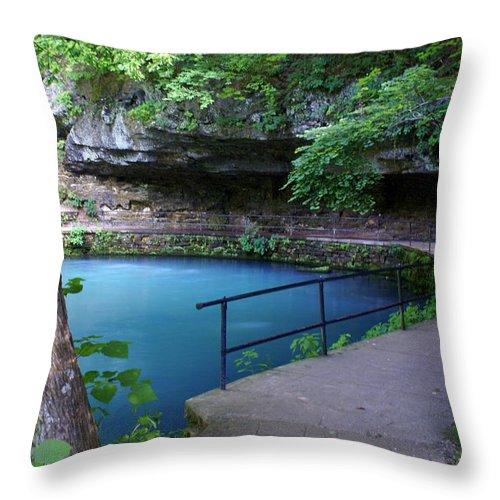 Maramec Springs Park Throw Pillow featuring the photograph Maramec Springs 3 by Marty Koch
