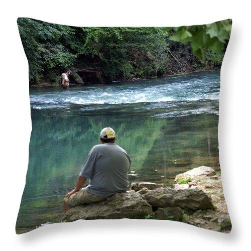 Maramec Springs Park Throw Pillow featuring the photograph Maramec Springs 6 by Marty Koch