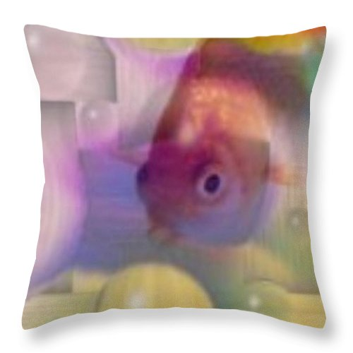 Fish Throw Pillow featuring the photograph Marble Fish by Tim Allen
