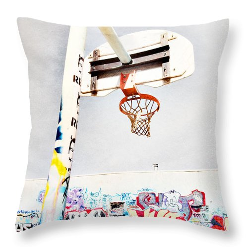 Basketball Throw Pillow featuring the photograph March 23 2010 by Tara Turner