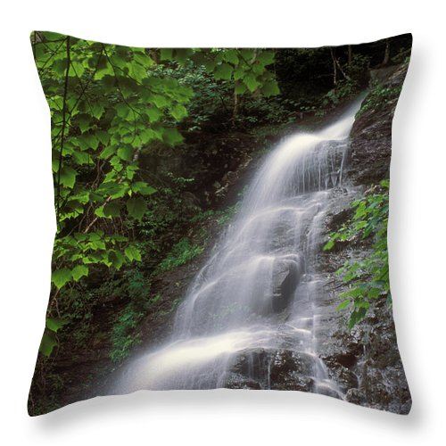 Waterfall Throw Pillow featuring the photograph March Cataract Falls Mount Greylock by John Burk