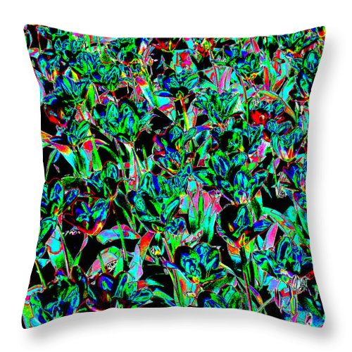 Scottish Art Throw Pillow featuring the digital art March Of The Flowers by Rodger Insh