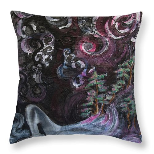 Dream Throw Pillow featuring the mixed media Margo by Jacqueline Milner