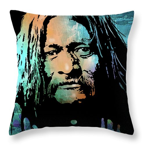 Native Americans Throw Pillow featuring the painting Maricopa Warrior by Paul Sachtleben