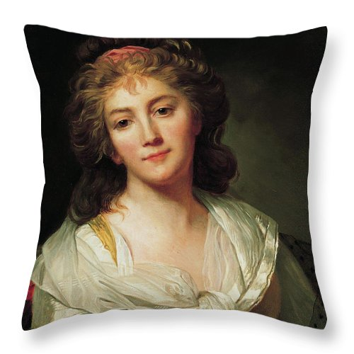 Marie Genevieve Bouliard Self Portrait Throw Pillow For Sale By Afterthought Studio