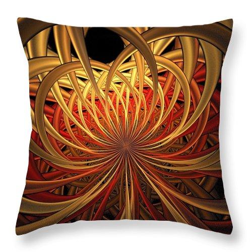 Digital Art Throw Pillow featuring the digital art Marigold by Amanda Moore