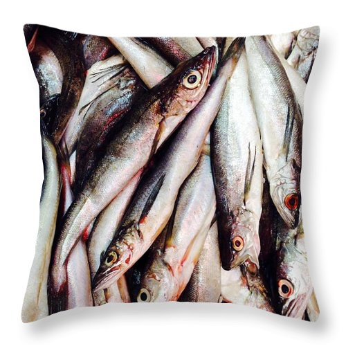 Fish Throw Pillow featuring the photograph Market Fish by Brittney Norton