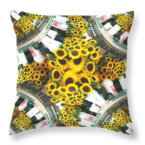 Flowers Throw Pillow featuring the photograph Market Flowers by Tim Allen