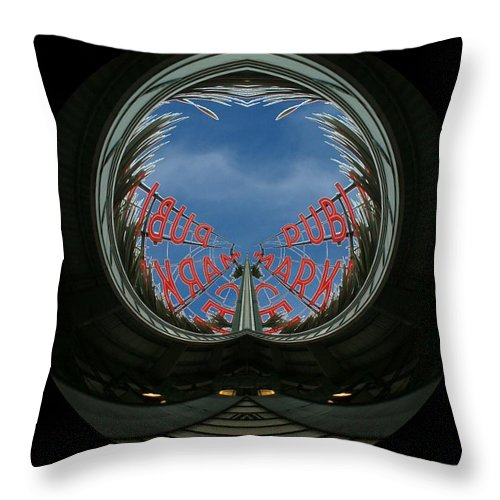 Seattle Throw Pillow featuring the photograph Market Through The Looking Glass by Tim Allen