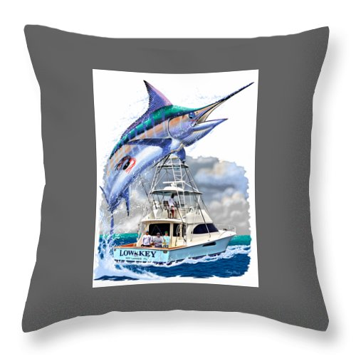 Marlin Throw Pillow featuring the digital art Marlin Commission by Carey Chen