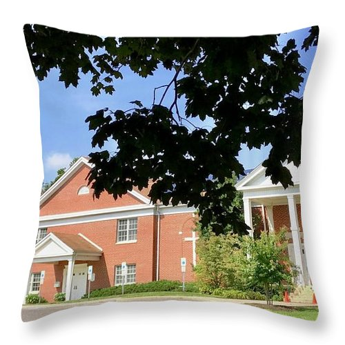 Church Throw Pillow featuring the photograph Marlton Umc by Trey Gillette