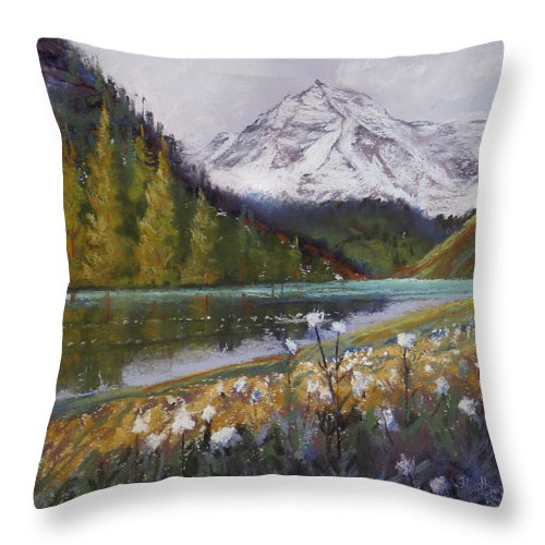 Maroon Lake Throw Pillow featuring the photograph Maroon Lake by Heather Coen