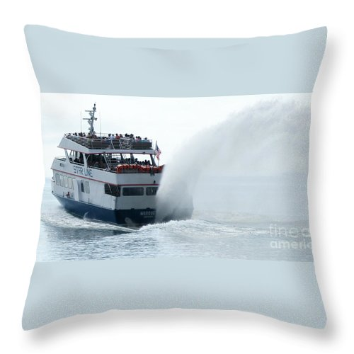Star Line Throw Pillow featuring the photograph Marquette Il by Linda Shafer