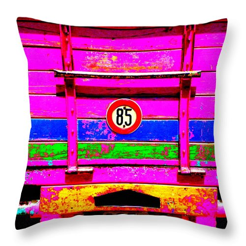 Funkpix Throw Pillow featuring the photograph Marrakech Truck by Funkpix Photo Hunter