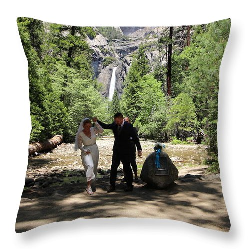 Throw Pillow featuring the painting Married by Travis Day