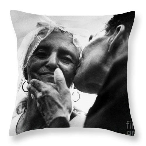 100 Throw Pillow featuring the photograph Marrying At 100 by Granger