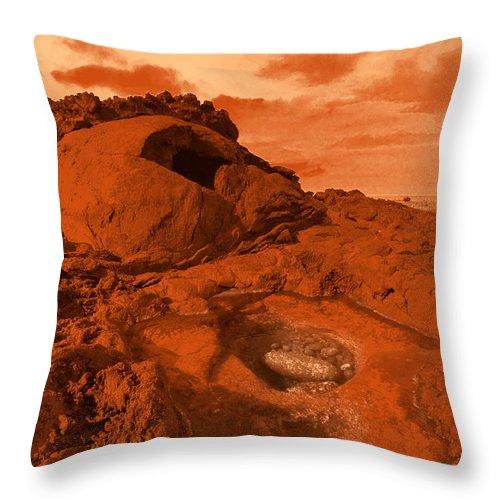 Alien Throw Pillow featuring the photograph Mars Landscape by Gaspar Avila