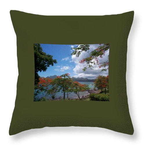 Donation Throw Pillow featuring the photograph Martinique by Mary-Lee Sanders