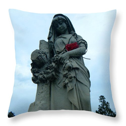 Mary Throw Pillow featuring the photograph Mary by April Patterson