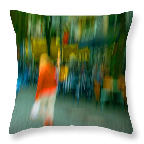 Abstract Throw Pillow featuring the photograph Mary Jane by Dorit Fuhg