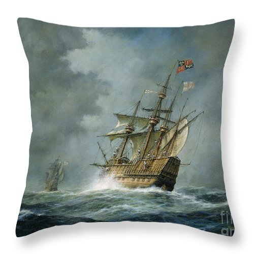Mary Rose Throw Pillow featuring the painting Mary Rose by Richard Willis