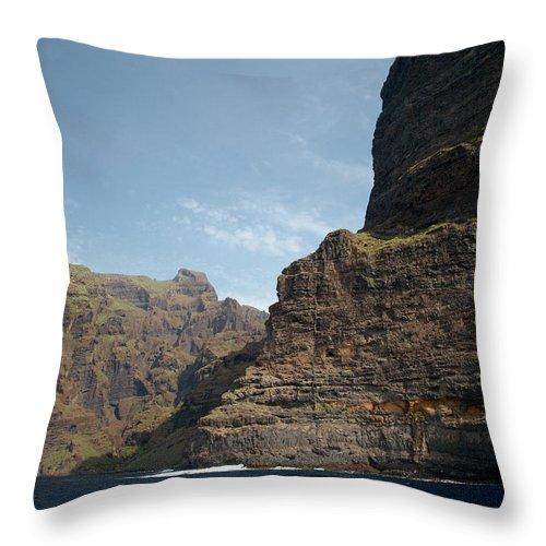 Valasretki Throw Pillow featuring the photograph Masca Valley Entrance 1 by Jouko Lehto