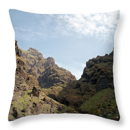 Valasretki Throw Pillow featuring the photograph Masca Valley Entrance 2 by Jouko Lehto