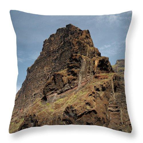 Valasretki Throw Pillow featuring the photograph Masca Valley Entrance 3 by Jouko Lehto